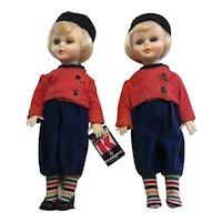 "10"" Twin Dolls  From  Greece- Kexaxac"