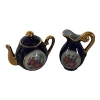 Miniature Porcelian Teapot & Pitcher