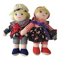 Nautical  All Cloth soft  Boy & Girl Dolls