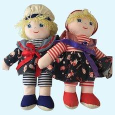 Nautical  All Cloth soft  Boy & Girl Dolls
