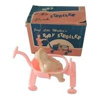 1960's Plastic Stroller & Baby