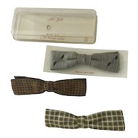 Vintage Men's Bow tie Lot #3