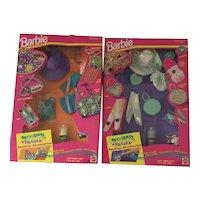 1993 lot of 2 Barbie Decorate N' Dazzle NRFB