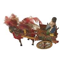 Vintage  Parade Pony Cart- Italian souvenir