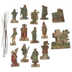 Antique Die Cut Theatre Figures