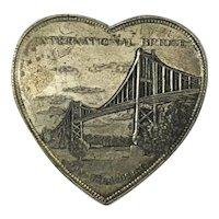 "Heart Shaped Box ""International Bridge"" Sovoneir"