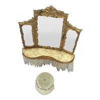 Petite Princess Dollhouse Furniture-=Dressing Table