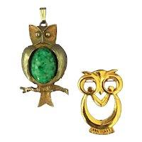 Owl  Brooch & Owl Pendant