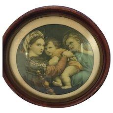 Round Framed Mother, Child & Angel