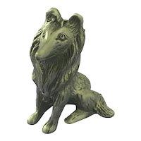 Collie Dog Pewter Figurine