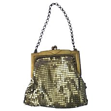Whiting & Davis Vintage Small Gold tone Mesh Purse