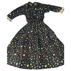 Larger Dress  in Floral printfor Antique Doll