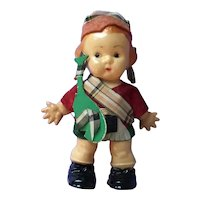Walking  Hard Plastic Doll as Bagpiper