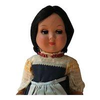 "17 1/2""  Italian  Made Hard plastic Girl Doll"
