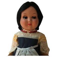 "17 1/2""  Italian  Made Hard plastic Girl Doll"