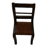 "Old Wooden Chair sized for 8"" doll"