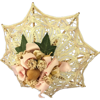 Embellished  Artisan made Doll sized Parasol