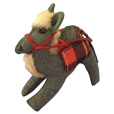 Vintage Plush Wool Toy Camel