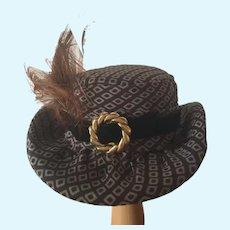 Fashionable artisan made doll hat