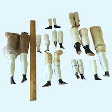 Large Lot.Replacement Legs for China & Parian Dolls