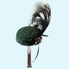 Classic Pillbox Style Artisan made Hat for Fashion Doll