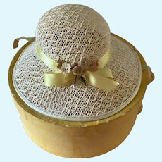 1950's or 1960's Dolls Hat with original Hat Box