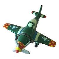 Porcelain Trinket box in shape of airplane.