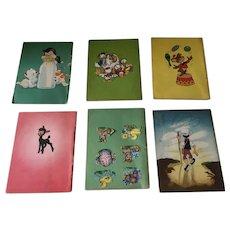 Set 6 Disney children's books 1950's