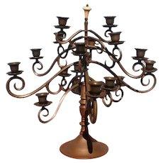 Bronze English 16 Candle Candelabra