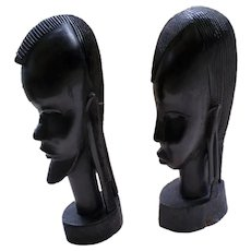Hand Carved African Ebony Wood Statues Museum Quality-From Tanzania