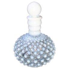 Hobnail Perfume Bottle Opalescent Pale Blue Glass 1900's