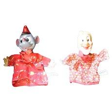 Original Gund Mfg. Walt Disney Hand Puppets  from Snow White-1950's