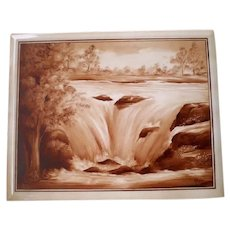 Antique Daguerreotype  Ceramic Tile by G. Husted Photographer of Lincoln-Waterfall Image