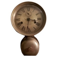 Seth Thomas Ships Bell Clock w/ External Bell, Original Key & History c1880