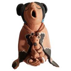 Juan Sandoval aka Joshua Abraham Native Indian Storyteller - Red Clay Sculpture  c.1964 - 1970