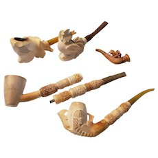Five Meerschaum Pipes