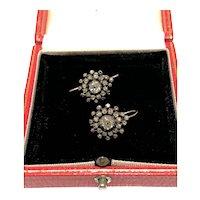 Early Victorian diamond cluster earrings.