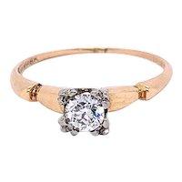 Vintage Old European Cut Diamond Ring