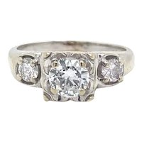 Vintage Three Stone Diamond Ring in 14 karat