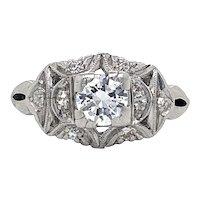Edwardian Diamond Ring in Platinum