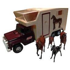 Buddy L Horse Van with Horses and Original Box