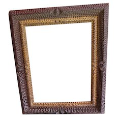 Chip-carved frame. Circa 1900