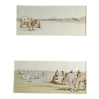 Pair of western illustrations by well listed American artist James McMullen