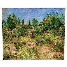 Circa 1910 impressionist landscape by listed German artist Karl  Dillinger (1882-1940)