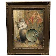 "Exhibited 1942 ""Apsaras ( celestial nymph) by John Linden Williston American artist"