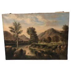American school 1852 White Mountains  New Hampshire  landscape