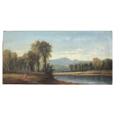 1870s Hudson River landscape cattle grazing at the river