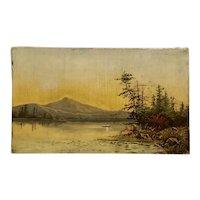 American school lake George Hudson river school 1870s painting