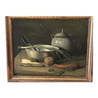 Signed American 1870s table top still life