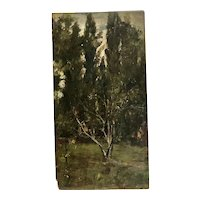 Impressionist landscape signed and dated circa 1900